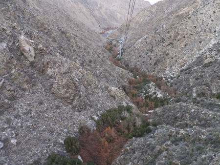 tramway: View of Palm Springs from the Aerial Tramway in California