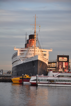 Historic Queen Mary in Long Beach, California