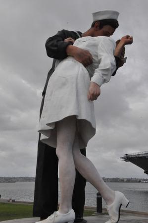 surrender: Unconditional Surrender sculpture in San Diego, California