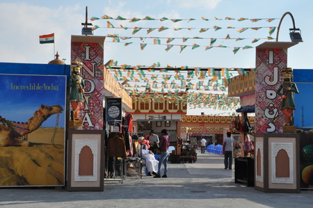 India pavilion at Global Village in Dubai, UAE