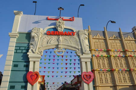 world   s largest: Germany pavilion at Global Village in Dubai, UAE, is claimed to be the world s largest tourism, leisure and entertainment project