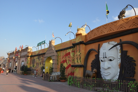 Africa pavilion at Global Village in Dubai, UAE