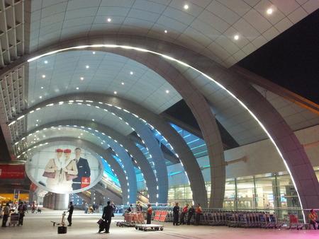 kiosk: Dubai Airport in the UAE Editorial