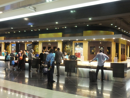 Shops at Dubai Duty Free at the International Airport