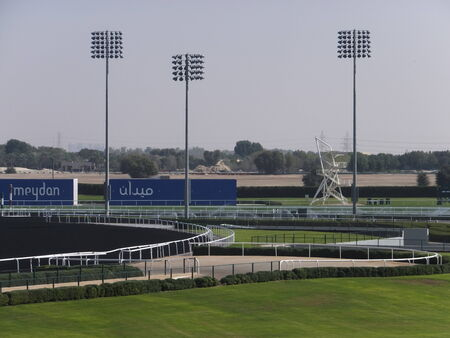 grandstand: Meydan Hotel, in Dubai, UAE, is the worlds first 5-star trackside hotel at a horse racecourse