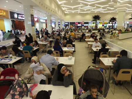 mall of the emirates: Food Court at Deira City Centre in Dubai, UAE