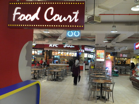 food court: Food Court at Lamcy Plaza Shopping Centre in Dubai, UAE Editorial