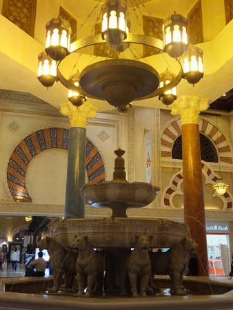 ibn: Ibn Battuta Mall, the worlds largest themed shopping mall, in Dubai, UAE