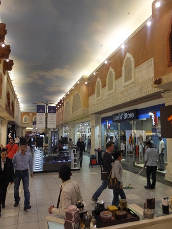 ibn: Egypt Court at Ibn Battuta Mall in Dubai, UAE Editorial