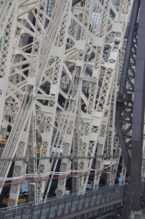 queensboro bridge: Queensboro Bridge in New York City Editorial