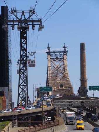 queensboro bridge: Queensboro Bridge in New York City Stock Photo