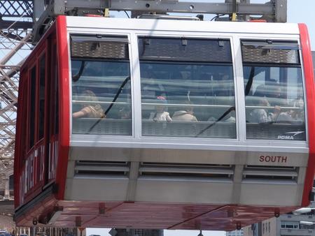 queensboro bridge: Roosevelt Island cable tram car in New York City Editorial