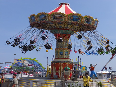 thrill: Casino Pier at Seaside Heights at Jersey Shore in New Jersey Editorial