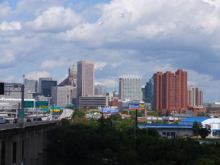 View of Downtown Baltimore in Maryland