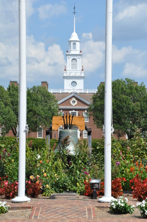 Delaware State Capitol and Liberty Bell in Dover