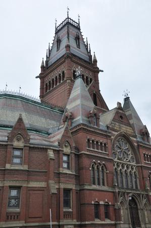 campus tour: Harvard Memorial Hall in Cambridge, Massachusetts Editorial