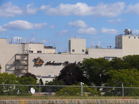 smallest: Anheuser-Busch brewery in Merrimack, New Hampshire, the easternmost and one of their smallest plants in the United States