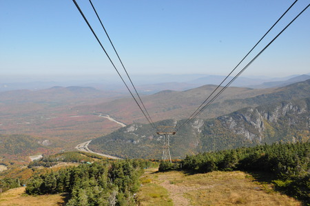 View from Cannon Mountain Aerial Tramway in White Mountain National Forest, New Hampshire photo