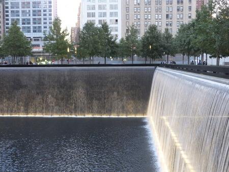 911 Memorial at World Trade Center Ground Zero in New York City