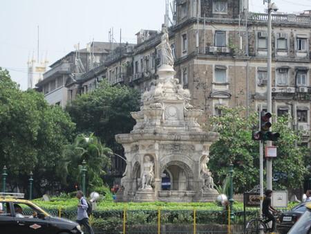 Flora Fountain in Mumbai, India Editorial
