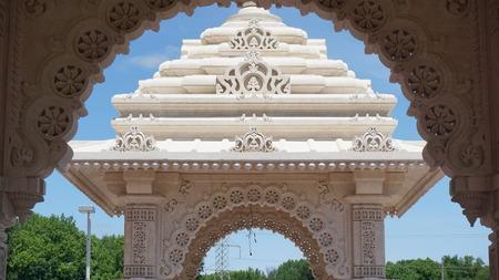 The Akshardham temple in Robbinsville, New Jersey Stock Photo