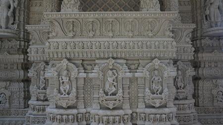 templo: El templo de Akshardham en Robbinsville, Nueva Jersey Foto de archivo