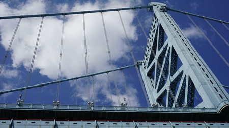Benjamin Franklin Bridge in Philadelphia, USA