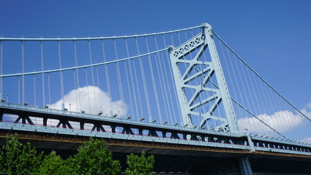 the franklin: Benjamin Franklin Bridge in Philadelphia, USA