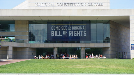 independance: National Constitution Center located on Independence mall in Philadelphia, Pennsylvania Editorial