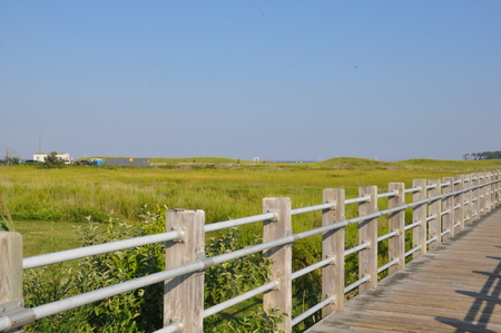 milford: Silver Sands State Park in Milford, Connecticut Stock Photo