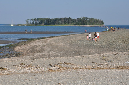 silver state: Silver Sands State Park in Milford, Connecticut Editorial
