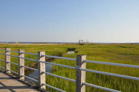 silver state: Silver Sands State Park in Milford, Connecticut Stock Photo