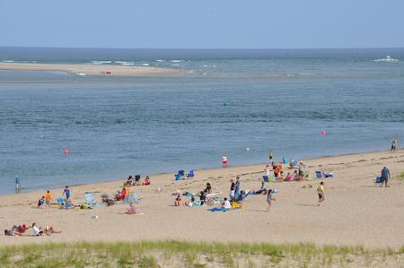 Nauset Beach in Chatham on Cape Cod, Massachusetts