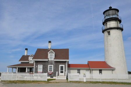 Highland Lighthouse (Cape Cod Light), oldest and tallest on Cape Cod in Massachusetts, USA