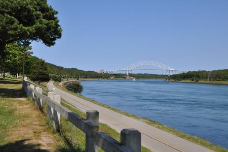 enforce: Sagamore Bridge across the Cape Cod Canal in Massachusetts, USA Stock Photo