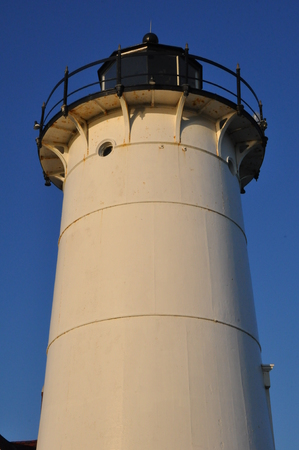 cod hole: Nobska Lighthouse at Woods Hole on Cape Cod in Massachusetts Stock Photo