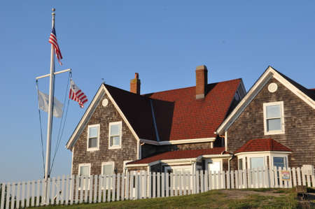 cod hole: Nobska Lighthouse at Woods Hole on Cape Cod in Massachusetts Editorial
