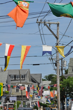 mayflower: Commercial Street in Provincetown, Cape Cod in Massachusetts Editorial