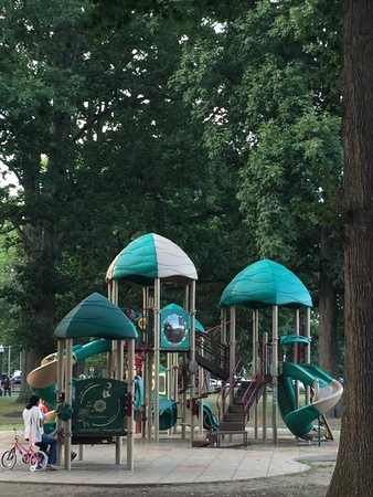 connecticut: Scalzi Park in Stamford, Connecticut Editorial