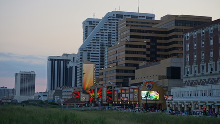 Atlantic City Boardwalk in New Jersey Editorial