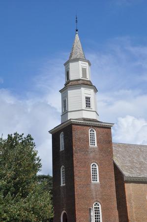 parish: Bruton Parish Church in Colonial Williamsburg, Virginia Stock Photo