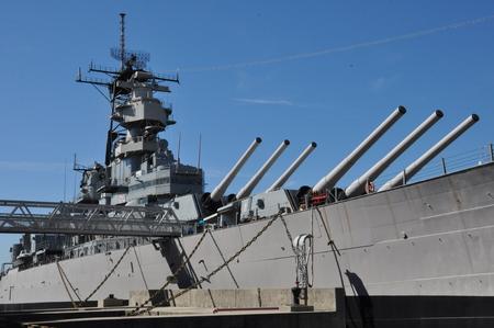 ノーフォーク、バージニア州の USS ウィスコンシン戦艦 BB-64