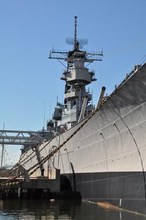 USS Wisconsin Battleship BB-64 in Norfolk, Virginia
