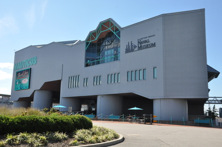 Nauticus, a maritime-themed science center and museum, in Norfolk, Virginia 新聞圖片