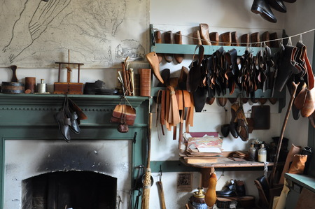 Shoemaker in Colonial Williamsburg, Virginia