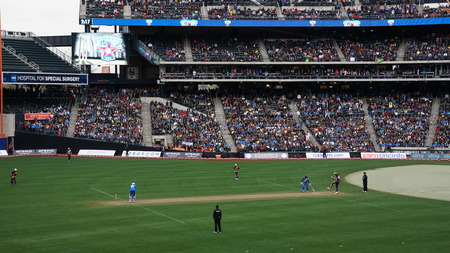 The 2015 Cricket All-Stars Exhibition Match at Citi Field in New York, on November 7. 2015. Sachins Blasters played Warnes Warriors.
