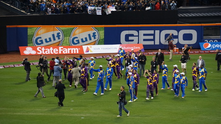 played: The 2015 Cricket All-Stars Exhibition Match at Citi Field in New York, on November 7. 2015. Sachins Blasters played Warnes Warriors.