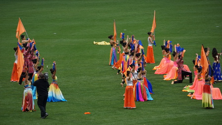 played: Halftime show at The 2015 Cricket All-Stars Exhibition Match at Citi Field in New York, on November 7. 2015. Sachins Blasters played Warnes Warriors. Editorial
