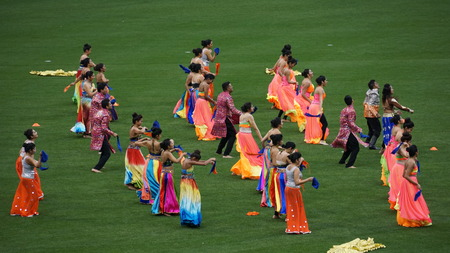 played: Halftime show at the 2015 Cricket All-Stars Exhibition Match at Citi Field in New York, on November 7. 2015. Sachins Blasters played Warnes Warriors.