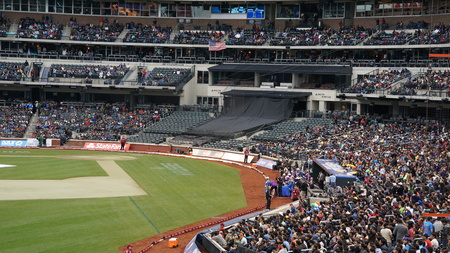 blasters: The 2015 Cricket All-Stars Exhibition Match at Citi Field in New York, on November 7. 2015. Sachins Blasters played Warnes Warriors.